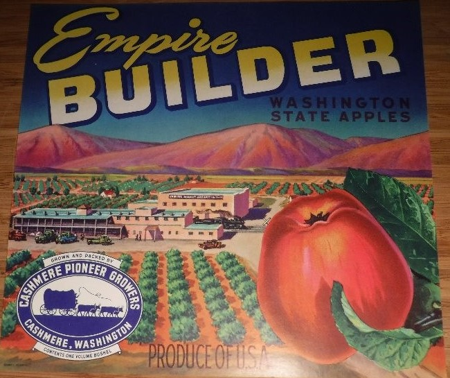 Empire Builder Apple Box Label